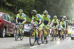 Teamwork - Tour de France 2014 - stock photo
