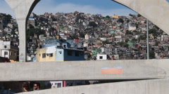 View of the Rocinha favela in Brazil II - stock footage