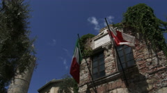 Native home of Christopher Columbus in Genoa, Italy Stock Footage