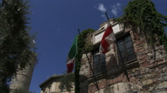 Tourists visit native home of Christopher Columbus in Genoa, Italy Stock Footage