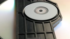 Reading sequence of CD disk in player mechanism 4K 2160p UltraHD footage - DV Stock Footage