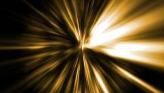 Yellow rays of light Stock Footage