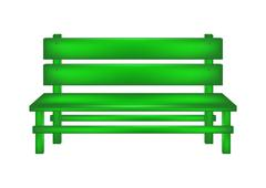 Rural bench in green design  Stock Illustration