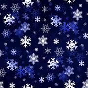 Stock Illustration of Dark Blue Snowflakes