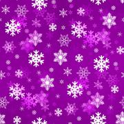 Light Lilac Snowflakes - stock illustration