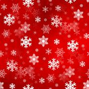 Light Red Snowflakes Stock Illustration
