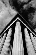 Mono corner of Temple of Hephaistos colonnade - stock photo
