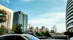 The panning view of the landmark of new Beijing-Galaxy SOHO,China. Stock Footage