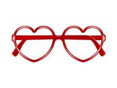 Sun glasses frame in shape of heart  Piirros