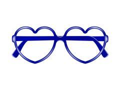Sun glasses frame in shape of heart  Stock Illustration