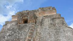 Time lapse top of Mayan ruins Stock Footage