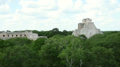 Jungle and Mayan pyramid Stock Footage