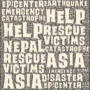 Nepal Earthquake Tremore - stock illustration