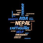 Nepal Earthquake Tremore - stock illustration