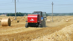 Making hay Stock Footage