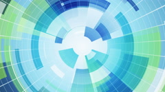 Blue circular segments loopable abstract background 4k (4096x2304) Stock Footage