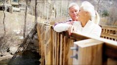 Stock Video Footage of Caucasian male female seniors Colorado winter lifestyle active walking travel