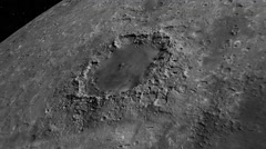 Meteor crater,The moon Stock Footage