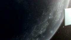 Artificial satellite,circumlunar satellite,  close-up shot1 Stock Footage