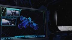 Lunar vehicle landing,lunar base,remote control Stock Footage