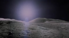 Lunar crater,parallel angle of view Stock Footage