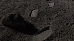 moonwalk,astronaut,Lunar Base - stock footage