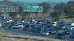 Rush Hour Traffic on 5 Freeway Stock Footage