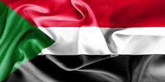 Sudan Flag Stock Illustration