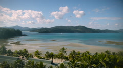 Sunny cloud and ocean time-lapse. Whitsundays, Australia Stock Footage