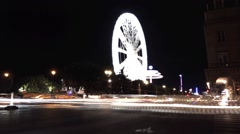 Light trails at Night in the streets of Paris, France - 60fps Stock Footage