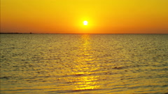 Sunset Mediterranean sea travel tourism tropical seascape Stock Footage