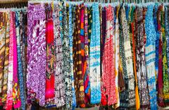 Cambodian trousers on sale - stock photo