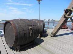 Winebarrels of VOC ship the Batavia - stock photo