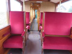 Interior of a historic train from Medembik to Hoorn - stock photo