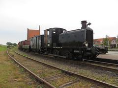 Historycal train for toeristic trips in the Netherlands - stock photo