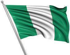 Flag of Nigeria - stock illustration