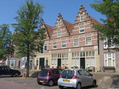 Marchant's house in the city Medemblik (Holland) - stock photo