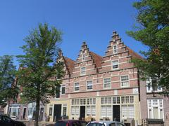 Marchant's house in the city Medemblik in Holland - stock photo