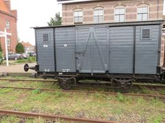 Clasic boxcar of the train from Medemblik to Hoorn. - stock photo