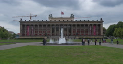 Altes Museum time lapse in Berlin Stock Footage