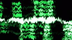Green electronic vibrations - stock footage