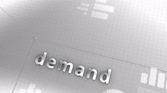 Demand growing chart, statistic, data, performance. Stock Footage