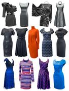 ladies dresses set - stock photo