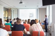 Stock Photo of Lecture at university.