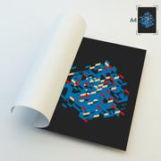 A4 Business Blank. Abstract Vector Illustration Stock Illustration