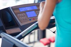 Interface of treadmill - stock photo