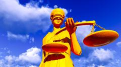 Themis - lady of justice - stock illustration