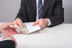 Money transfer Stock Photos