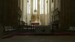 Gothic Church Altar Stock Footage