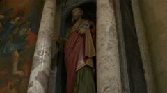 Saint Paul Church Statue Stock Footage